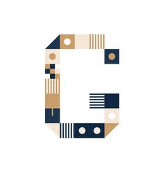 pixel art letter g colorful letter consist vector image