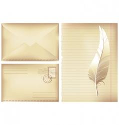 Postage background vector