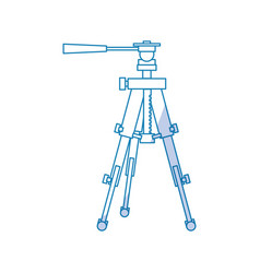 professional photographic tripod vector image
