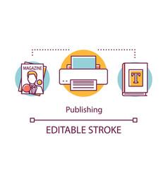 Publishing concept icon preparation publication vector