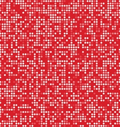 Red circle pixel mosaic background vector