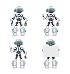 Robot different poses innovation technology vector