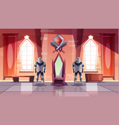 royal throne in castle or museum cartoon vector image