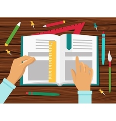 School Books Concept vector image