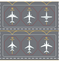 Seamless pattern with airplanes on the terminal vector