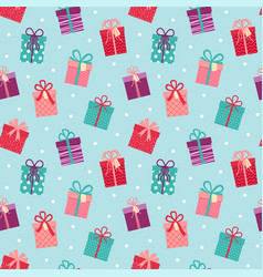 seamless pattern with gifts beautiful background vector image