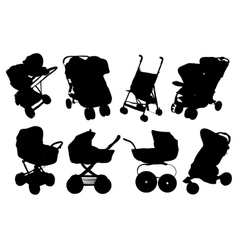 Set Silhouettes Icon baby vector image
