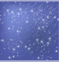 Shooting stars on nignt sky meteor shower vector