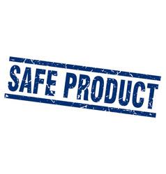 square grunge blue safe product stamp vector image