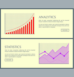 statistics and web pages set vector image