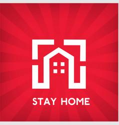 stay home corona virus prevention home quarantin vector image