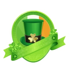 Sticker Green Cylinder St Patricks Day vector