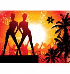 summer disco vector image vector image