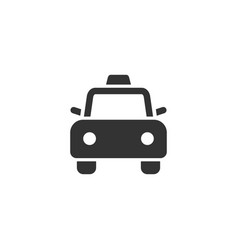 taxi car front view glyph style icon vector image