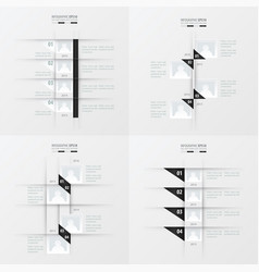timeline design 4 item black and white color vector image