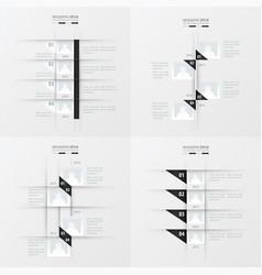 Timeline design 4 item black and white color vector