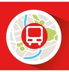 Train laptop map gps vector