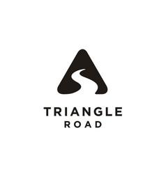 triangle street road river creek symbol logo vector image