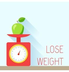 Weight poster diet vector image