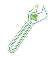 wrench tool repair construction equipment icon vector image
