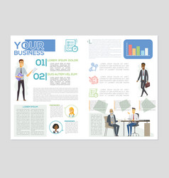 your business article - colorful brochure vector image
