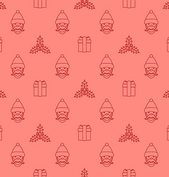 outline new year seamless pattern vector image