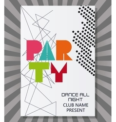 party advertising card design vector image vector image
