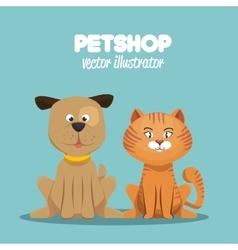 petshop veterinary symbol icon vector image vector image