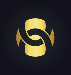 shape circle abstract round gold logo vector image vector image