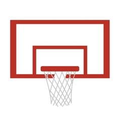 silhouette colorful with square basketball hoop vector image