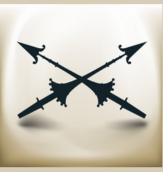 simple spear vector image