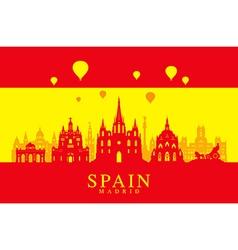 Spain Travel Landmarks Flag vector image