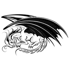 stylized dragon vector image vector image