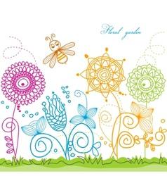 floral garden vector image