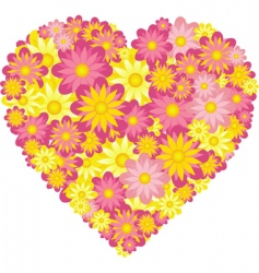 floral heart vector image vector image