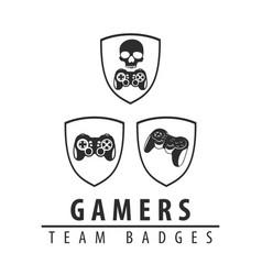 logos for computer games vector image vector image