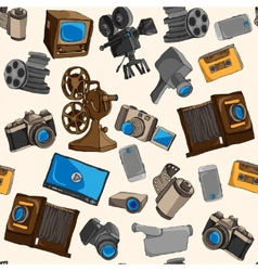 Photo video seamless pattern vector image