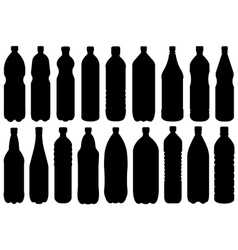 Set Of Different Bottles vector image vector image