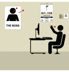 the boss vector image vector image