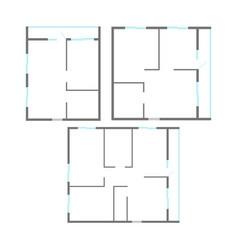 apartment plan set vector image
