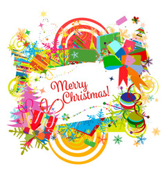 christmas frame for your design vector image