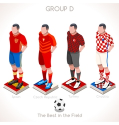 EURO 2016 Championship GROUP D vector image vector image