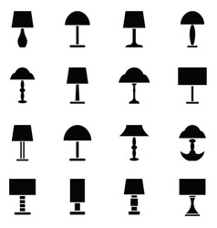 lamp icon set vector image
