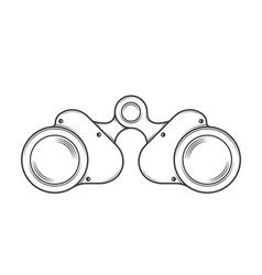 Military Old Binocular vector image
