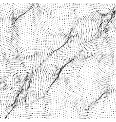 abstract monochrome wave mesh vector image