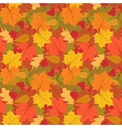 Autumn seamless pattern of colorful leaves vector image