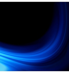 Blue smooth twist light lines background EPS 8 vector image
