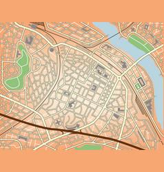 city center vector image