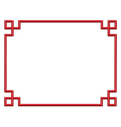 3d china border frame vector