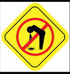 a warning sign with an icon not vector image